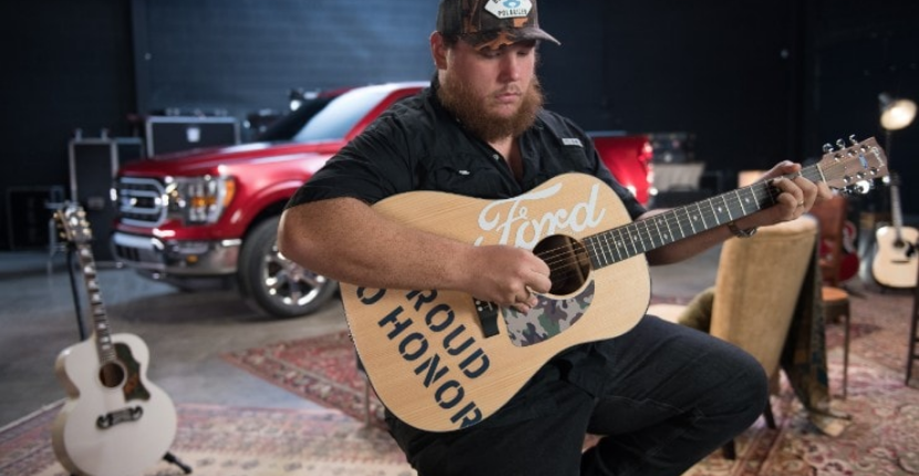 Ford Teams with Luke Combs to Donate Ford-Themed Guitars to Vets
